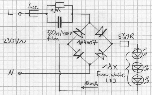 sc 1 st  CandlePowerForums & Need to run 50 LEDu0027s on 230V AC